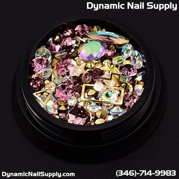 Reviews for BlueZOO 12 Pack Mixed Nail Art Décor Accessories Decorations Rhinestones Diamonds Crystals Metal Studs Beads Gems for DIY Décor
